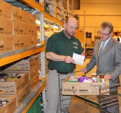 Andrew Hill and David Pedley at Swindon Foodbank